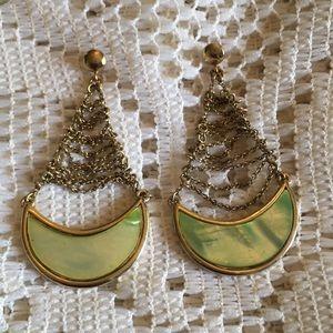 Monet Half Moon Chandelier Earrings